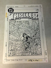THRILLER #11 original prod cover art, 1984, ALEX NINO, LARGE, DC !!!!