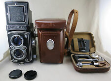 Rolleiflex TLR Camera (K4/50?), Case and Rolleikin Kit (used) Serial No 1166122