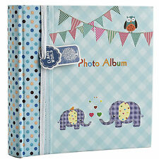 Large Blue Baby Boy Photo Album Holds 200 Photos 4' x 6' Ideal Gift -BA-9851