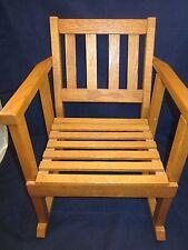 "Oak Rocking Chair ~ SMALL ~ Child / Teddy Bear / Doll ~ 17.5"" tall x 13.5"" wide"
