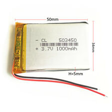 LiPo Akku # 1000 mAh 3,7 V # Lithium Polymer Akku 503450 # Mit Schutzschaltung