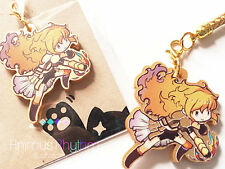 Golden Acrylic  strap charm:  RWBY Yang Xiao Long Anime / cell-phone