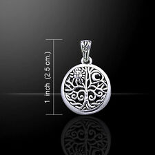 Pagan & Wicca Tree of Life .925 Sterling Silver Pendant by Peter Stone