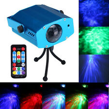 RGB Water Wave Projector DJ Disco LED Light Stage Party Laser Lighting Show EU