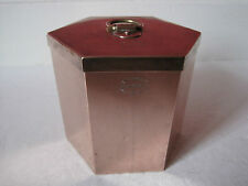 ANTIQUE VICTORIAN HEXAGONAL SHAPED COPPER FOOD MOULD WITH LID - TEMPLE & CROOK