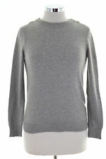 Massimo Dutti Womens Crew Neck Jumper Sweater Small Grey Wool