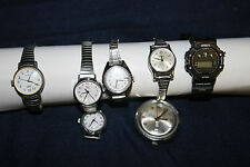 7 Vintage Wrist Watches  5 Timex, Pulsar, Sports Watch for parts or repair