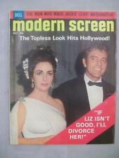 MODERN SCREEN MAGAZINE OCTOBER 1964 TOPLESS LOOK HITS HOLLYWOOD DIVORCE LIZ