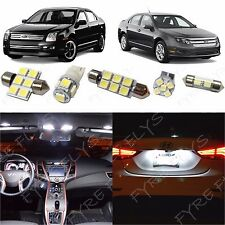 10x White LED lights interior package kit for 2006-2012 Ford Fusion FF2W