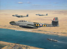 Armstrong Whitworth Gloster Meteor Aircraft Plane Painting Aviation Art Print