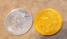 """Lot of 2 Disney """"A Pirates Life For Me"""" Mickey Mouse CoinsTokens Gold & Silver"""