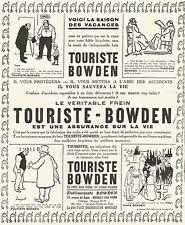 W7432 Freni Touriste-Bowden - Pubblicità del 1925 - Old advertising