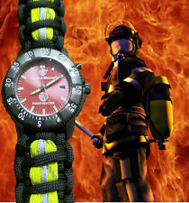 FIREFIGHTER Smith & Wesson Watch w/ Refl. Bunker Turnout Gear Paracord 550 Band