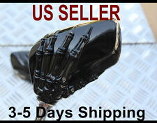 Hand Skull Mirror for Yamaha Zuma 50 125 Scooter Moped Motorcycle - Gloss Black