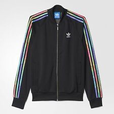 ADIDAS ORIGINALS LGBT SUPERSTAR TRACK TOP JACKET SIZE S RAINBOW BLACK B30898