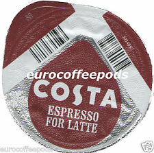 48x Tassimo Costa Espresso for Latte Coffee T-discs (Sold Loose) Expresso
