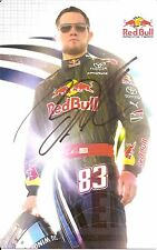 2009 BRIAN VICKERS signed NASCAR RED BULL PHOTO CARD POSTCARD TOYOTA CAMRY wCOA