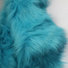 Blue, SHAGGY FAUX FUR FABRIC (LONG PILE FUR),costumes, photography backdrop, BTY