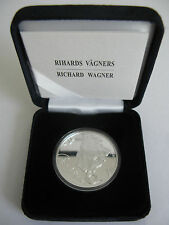 1 Lats Richard Wagner 2013 Latvia Lettland silver coin Ship PROOF silber Münzen