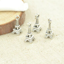 50pcs Alloy vintage silver tone charms Eiffel Tower pendant diy jewelry 18*7mm