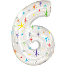 Giant Silver Number 6 Foil Birthday Balloon Helium or Air Fill Party Balloons
