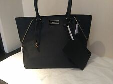 DKNY Black Saffiano Leather Large Tote Bag