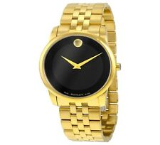 NEW MOVADO MUSEUM CLASSIC GOLD PVD BRACELET AND CASE MEN'S WATCH 0606997