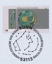 BRD 2008: Himmelsscheibe von Nebra Nr 2695! Bonner Ersttagssonderstempel 1A 1611