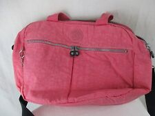 Kipling Pink Computer Tote Travel attache briefcase overnight bag