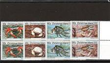 a111 - CHRISTMAS ISL - SG203-206 MNH 1985 CRABS 3rd SERIES - PAIRS