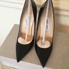 Jimmy Choo Anouk Black Patent Leather Heels Brand New Size 37.5