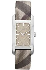BRAND NEW BURBERRY BU9504 TRENCH CHECK STRAP CHECK STAMP RECTANGLE DIAL WATCH