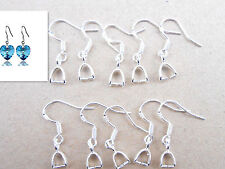 20PCS Jewelry Making Findings 925 Sterling Silver Pinch Bail Hook Earring Wire