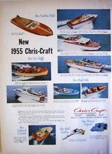 1955 CHRIS-CRAFT MODELS - RUNABOUTS, CRUISERS, YACHTS PRINT AD!