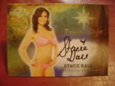 2015 Benchwarmer Treasure Chest Stacie Hall BASE AUTO GOLD PLAYMATE