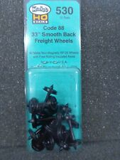 "HO Code 88 33"" Smooth Back Freight Wheels - Kadee #530"