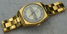 1969 OMEGA AUTOMATIC WRISTWATCH w/ DAY & DATE-24J CAL 751-GOLD TONE Ω