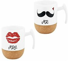 Love-KANKEI Couples Mugs Ceramic Coffee Mugs Mr And Mrs Cups Set Of 2, 10.5oz,