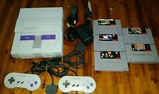 Super Nintendo Entertainment System Console bundle (SNS-001) SNES WITH  5 GAMES