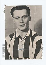 BOBBY ROBSON WEST BROMWICH ALBION 1955-1962 RARE ORIG SIGNED MAGAZINE CUTTING