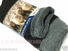 3 Pair MERINO WOOL MEN WORK SOCKS  SIZE 11- 14 (Brand New)
