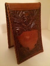 Vintage Mexican Tooled Leather Notepad Cover