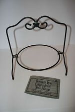 LONGABERGER Wrought Iron Single Pie Plate Stand New in Box
