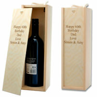 Personalised Happy Birthday Wooden Wine Box with Rope Handle