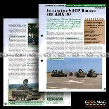 #vm034.05 ★ SYSTEME SACP ROLAND sur AMX 30 (FRANCE) ★ Fiche Véhicule Militaire