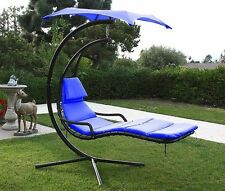 Hanging Helicopter dream Lounger Chair Stand Swing Hammock Chair Canopy blue