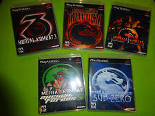 EMPTY Replace Cases! Mortal Kombat Collection PSX Sony Playstation PS1 Trilogy