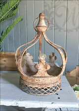 New Crown LED Lamp Lantern Holder Candle Style Garden Antique French Moroccan