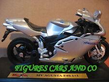 MOTO  1/18 MV AGUSTA 750 F4S 1+1  GRISE 2002 MAISTO
