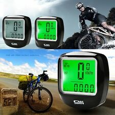 LCD Cycling Computer Bicycle Bike Meter Speedometer Odometer w Backlight